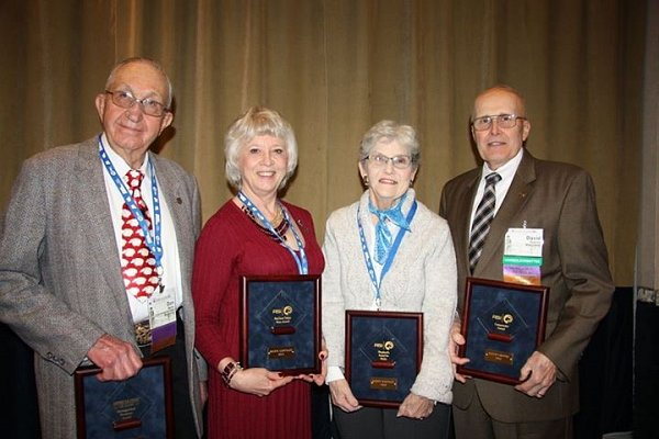 American Sheep Industry Awards - Pictured: Don Meike, Marie Lehfeldt, Sandy Whittley and David Greene
